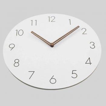 Slient Wooden Wall Clock Rustic Art Home Decor Clock 5