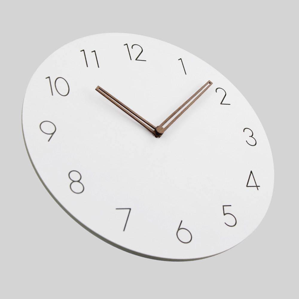 Slient Wooden Wall Clock Rustic Art Home Decor Clock