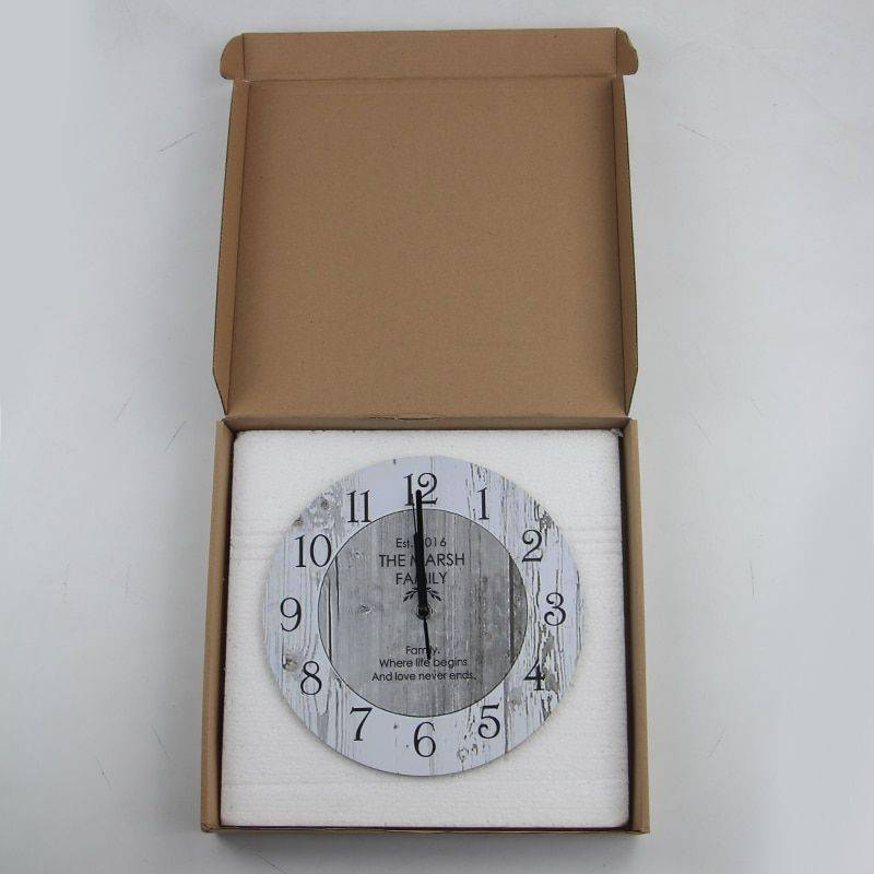 Wooden Classic Wall Clock Vintage Kitchen Wall Clock