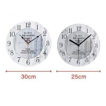 Wooden Classic Wall Clock Vintage Kitchen Wall Clock 4