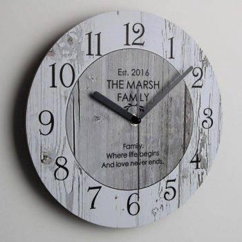 Wooden Classic Wall Clock Vintage Kitchen Wall Clock 1