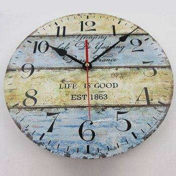 Wood Round Living Room Wall Clock European Vintage Clocks 1