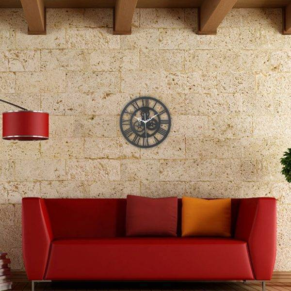 European Gear Wall Clock Home Living Room Clocks