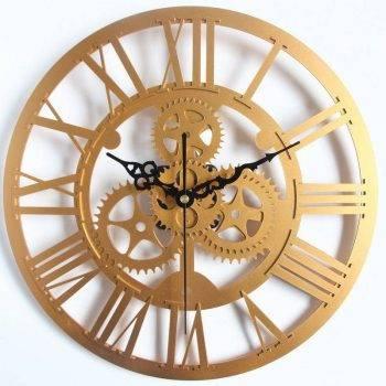 European Gear Wall Clock Home Living Room Clocks 1