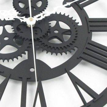 European Gear Wall Clock Home Living Room Clocks 3