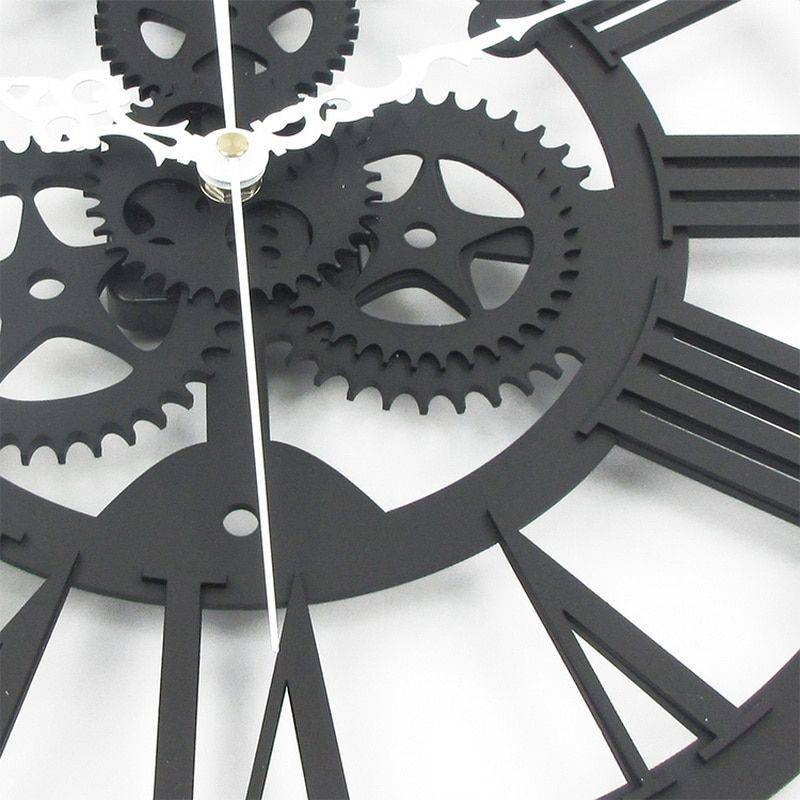 European Gear Wall Clock Home Living Room Clocks