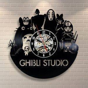 Ghibli Studio Art Wall Clock Hanging Unique Childrens Clocks