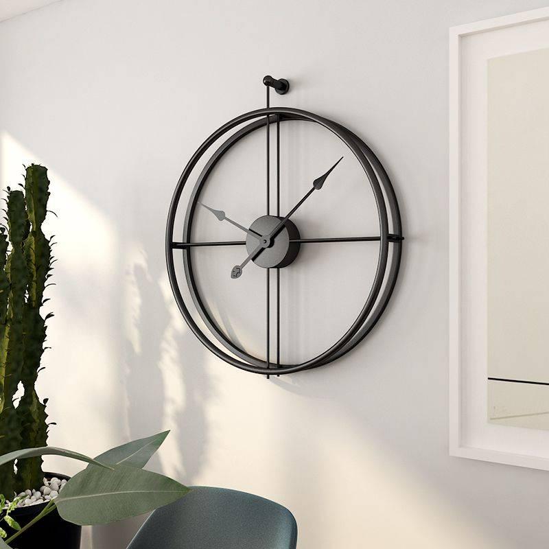 Large Silent Wall Clock Modern European Style Hanging Clocks