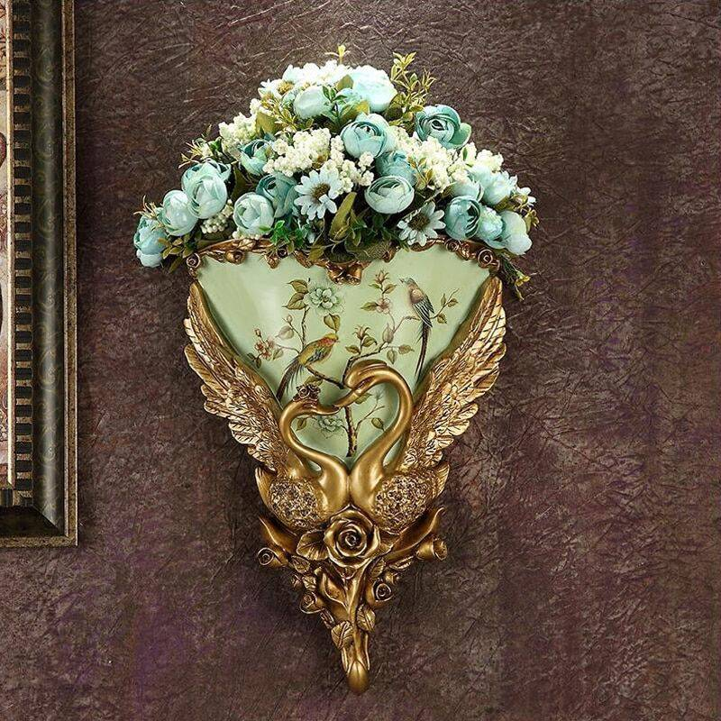 Wall Hanging Vase Decoration Swan Flower Basket Vases