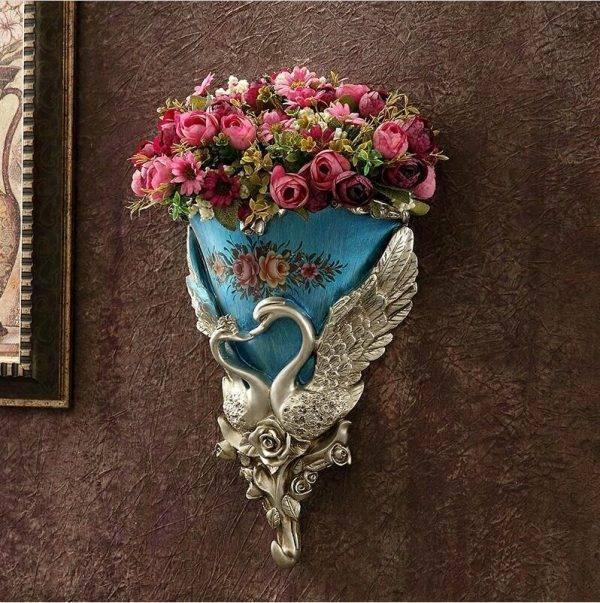 Wall Hanging Vase Decoration Swan Flower Basket Vases