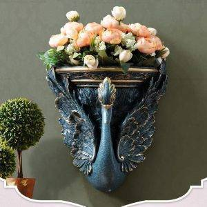 Swan Wall Hanging Vase Decoration Flower Spot Livingroom Vases