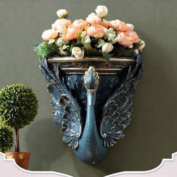 Swan Wall Hanging Vase Decoration Flower Spot Livingroom Vases