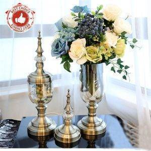 Decorative Glass Vases Artificial Flower Vases