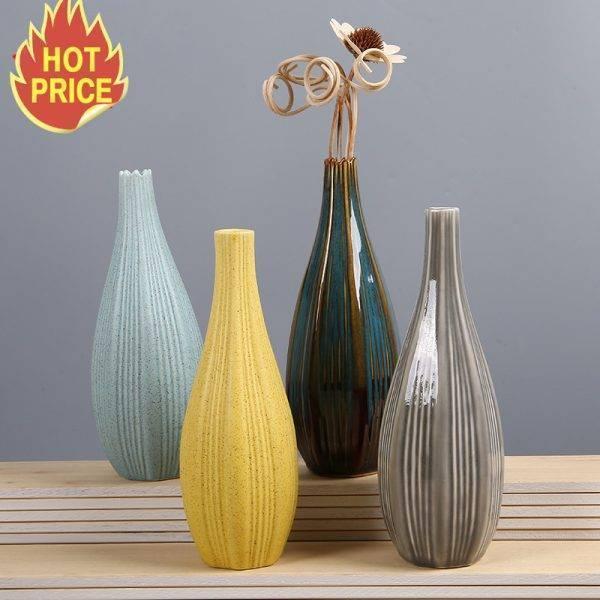 Ceramic Flower Vases Decoration Office Flower Pot
