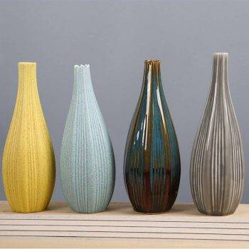 Ceramic Flower Vases Decoration Office Flower Pot 4