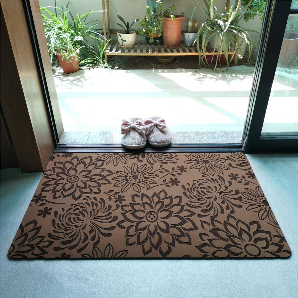 Decorative Rubber Backed Non Slip Rugs For Kitchen Carpet In Bathroom Trend