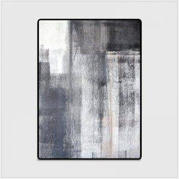 Modern Abstract Black/Gray Rug For Living Room/Bedroom/Kitchen 4