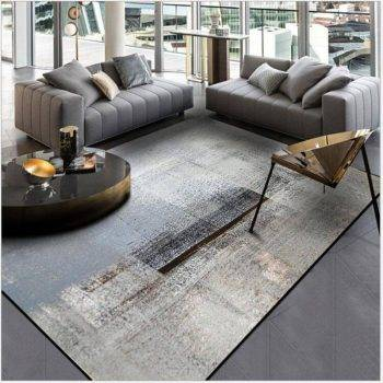 Modern Abstract Black/Gray Rug For Living Room/Bedroom/Kitchen 2