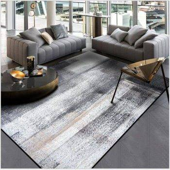 Modern Abstract Black/Gray Rug For Living Room/Bedroom/Kitchen 1