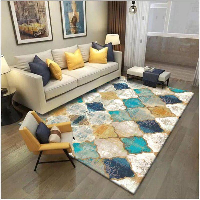 Nice Vintage Geometric Colorful Rug For Living Room/Bedroom