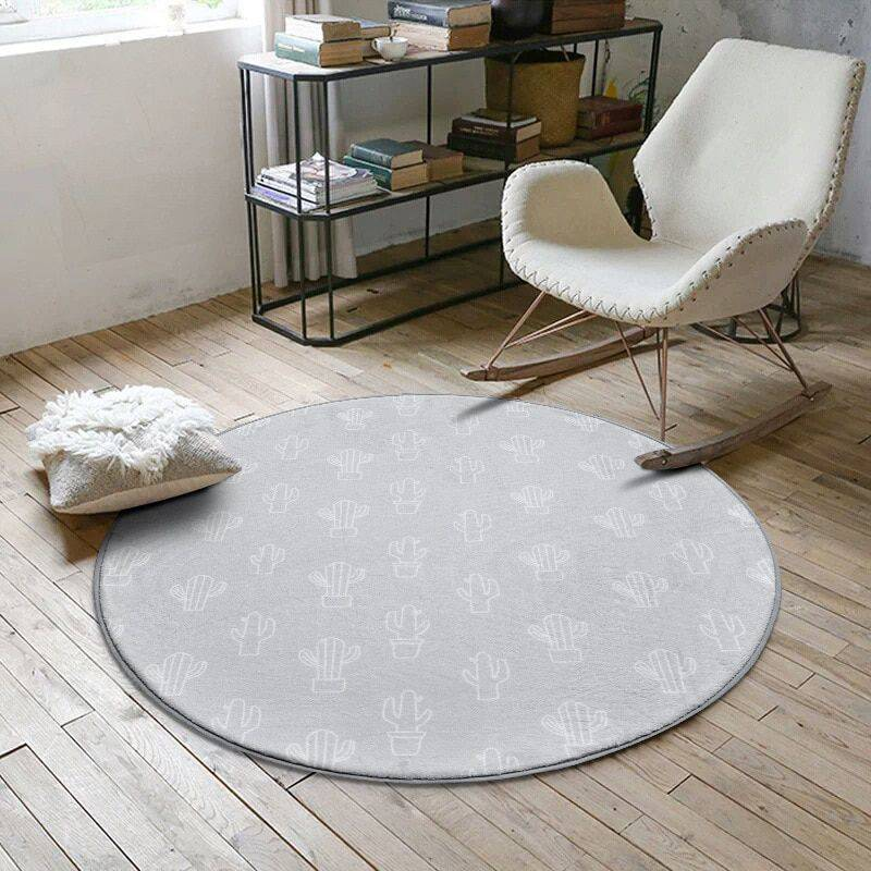 Modern Round Nordic Floor Rugs For Living Room/Bedroom – Rugs Home Decor