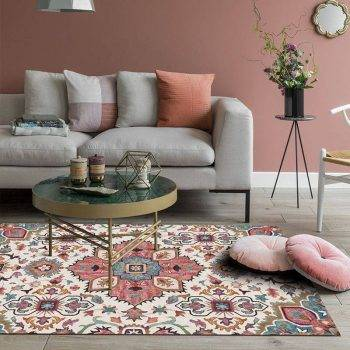 Classic Geometric Persian Washable Living Room Rugs - Rug Ideas For Bedroom 1