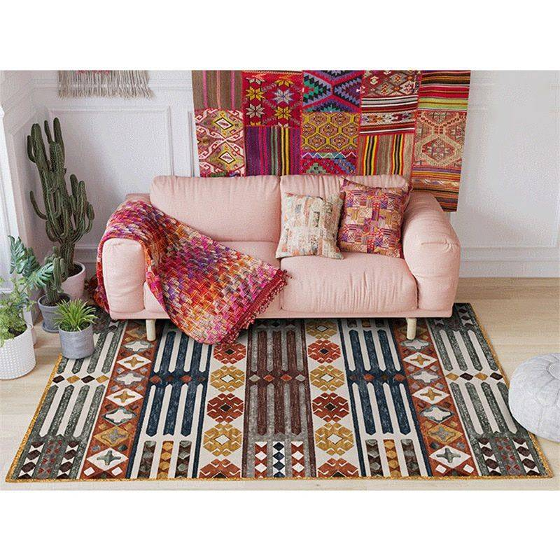Classic Geometric Persian Washable Living Room Rugs – Rug Ideas For Bedroom
