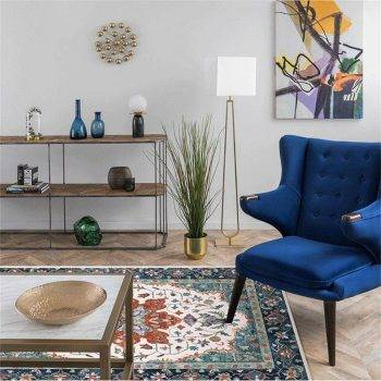 Classic Geometric Persian Washable Living Room Rugs - Rug Ideas For Bedroom 2