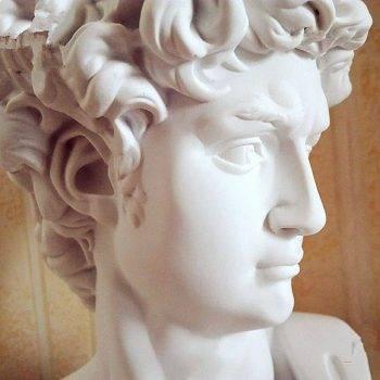 Small Vintage Resin Michelangelo's David Head - Michelangelo Statue Of David 4