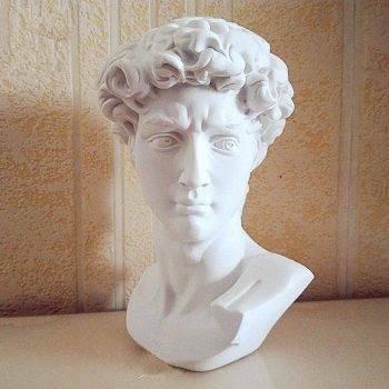 Small Vintage Resin Michelangelo's David Head - Michelangelo Statue Of David 2