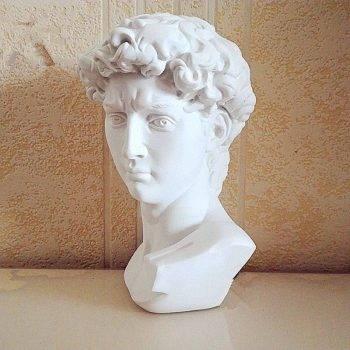 Small Vintage Resin Michelangelo's David Head - Michelangelo Statue Of David 1