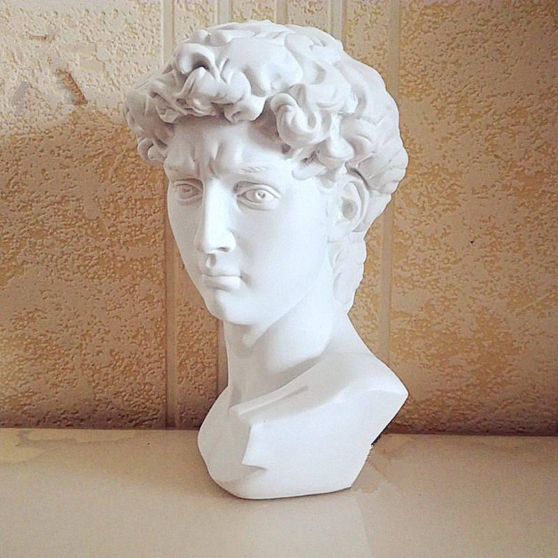 Small Vintage Resin Michelangelo's David Head – Michelangelo Statue Of David