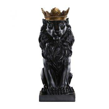 Lion Statue For Sale - Resin, Black/Gold/White - Sculpture Of Animal, Statue Of Animal, Home Decoration Accessories 5