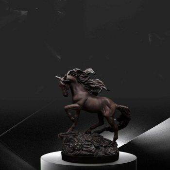 Andalusian Horse Statue For Living Room - Resin, Stallion/Arabian/Percheron Horse Statuette, Animal Statues For Home Decor 3