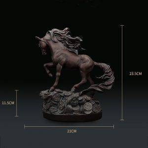 Brown Resin Horse Statue For Living Room – Statue Home Decor