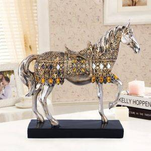 Small Resin Horse Statue For Living Room – Statue Decor For The Home