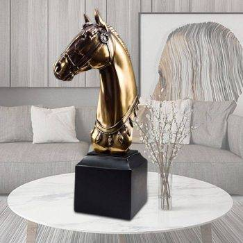 Modern Resin Horse Head Statue For Living Room - Home Decoration Accessories 4
