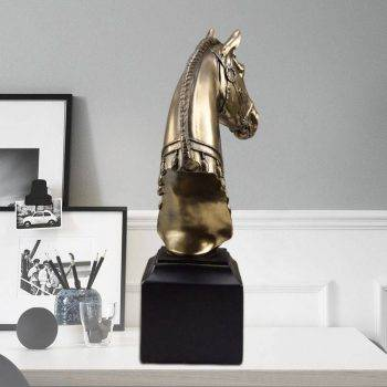 Modern Resin Horse Head Statue For Living Room - Home Decoration Accessories 2