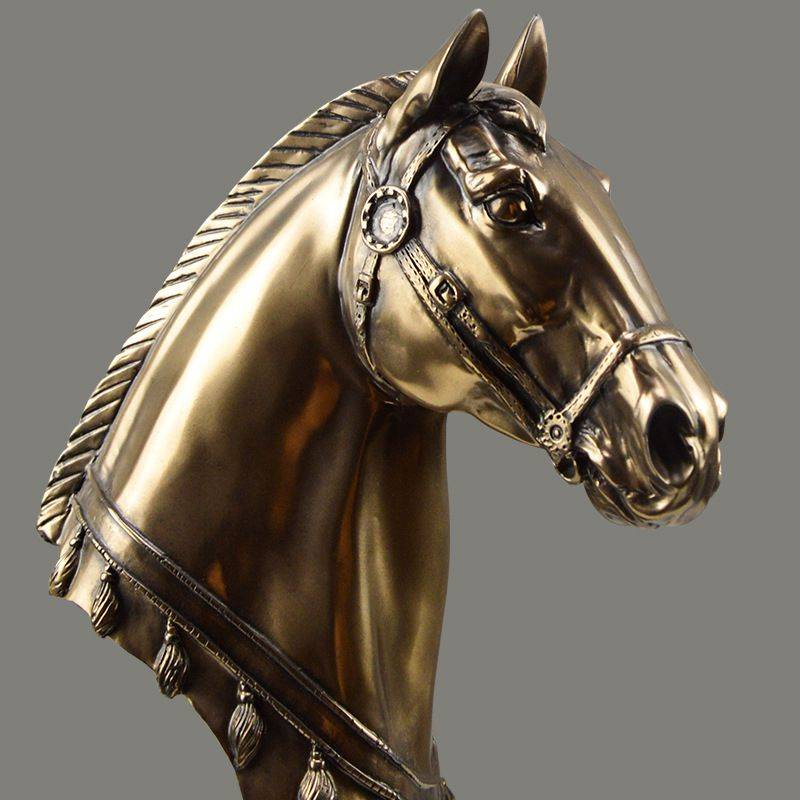 Modern Resin Horse Head Statue For Living Room – Home Decoration Accessories