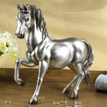 Vintage Bronze/Gold/Silver Resin Horse Statues - Money Box Gift Ideas 2
