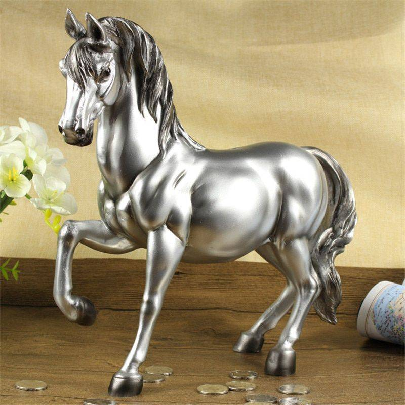 Vintage Bronze/Gold/Silver Resin Horse Statues – Money Box Gift Ideas
