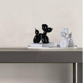 Modern Black/White/Red/Pink Resin Balloon Dog Statue - Sculpture Of Animal 4