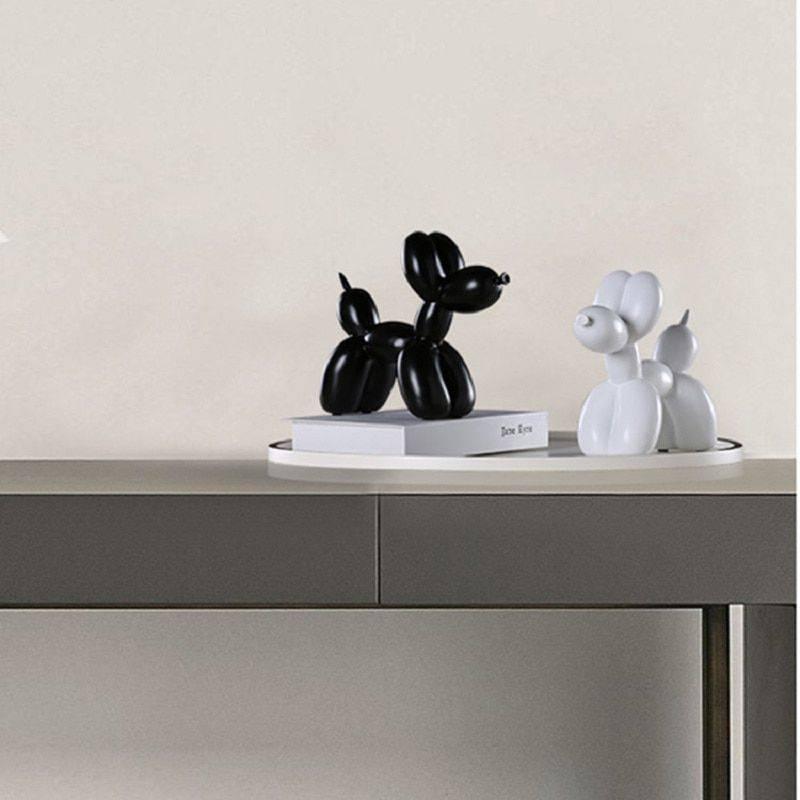 Modern Black/White/Red/Pink Resin Balloon Dog Statue – Sculpture Of Animal