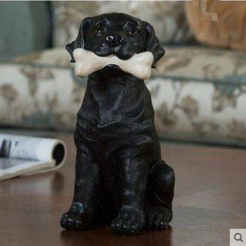 Vintage Resin Dog Statue For Home - Sculpture Of Animal 1