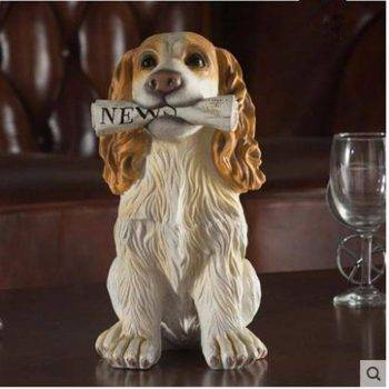 Vintage Resin Dog Statue For Home - Sculpture Of Animal 4