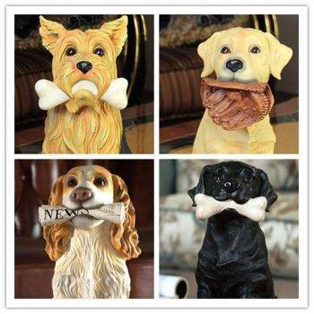 Vintage Resin Dog Statue For Home - Sculpture Of Animal 5