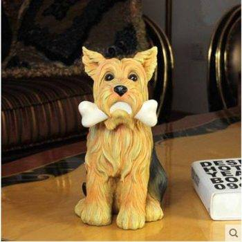 Vintage Resin Dog Statue For Home - Sculpture Of Animal 2