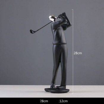 Modern Black Resin Abstract Statues - Art Deco Sculpture For Home 5