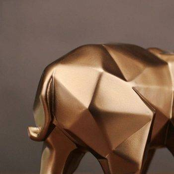 Abstract Gold Resin Elephant Statue For Home Decor - Sculpture Of Animal 5
