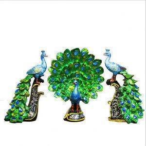 Small Resin Peacock Statue For Home Decor – Office Decor Desk